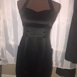 City Triangles Ladies Strapless Black Dress